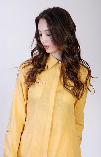 Woman Wearing Yellow Shirt